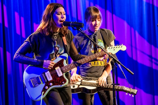 Sibling-led roots band Larkin Poe headlines Minglewood Hall on Friday.