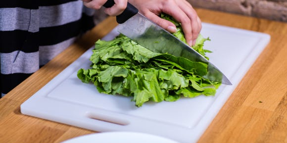 Vegetable prep never looked so good.