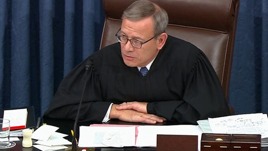 Chief Justice John Roberts presided over President Donald Trump's impeachment trial in the Senate.