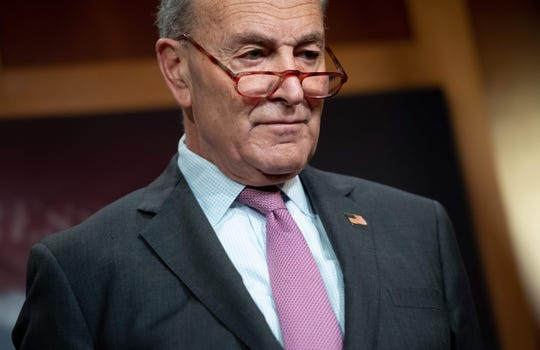 Senate Democratic leader Chuck Schumer at the Capitol  in January 2020.