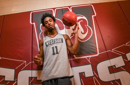 C.J. Plantin, Westside High School basketball player.