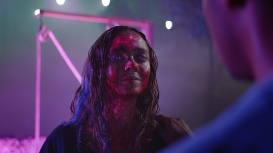 """Madeleine Arthur as Lavinia Gardner in the sci-fi/horror film """"Color Out of Space,"""" an RLJE Films release."""