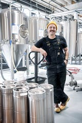 Brandon Audette, head brewer at 12 Bones Brewing, in Arden January 23, 2020.