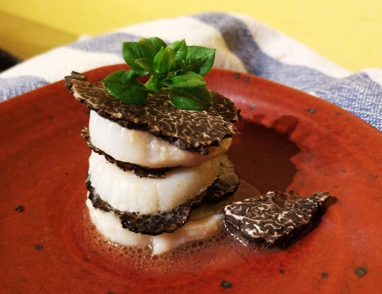 Truffle Scallop Mille-Feuille from Cooking with Truffles: A Chef's Guide.