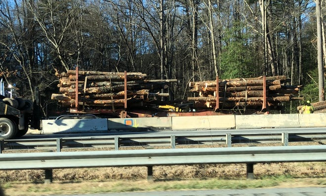 Logging crews have been busy along I-26 as part of a project to widen the interstate from Buncombe to Hendersonville.