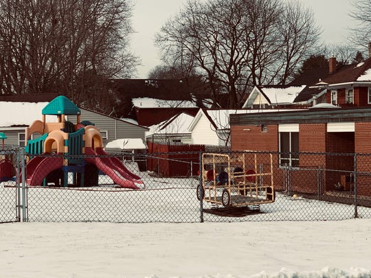 The playground at Future Faces in Binghamton remains empty as the child care center was closed by the state.