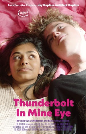 "Anjini Teneja Azhar and Quinn Liebling star in the independent feature film ""Thunderbolt In Mine Eye."""