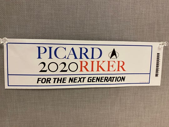 """Time to pull out the Picard and Riker for """"The Next Generation"""" bumper sticker with the release of the new Star Trek: Picard show premiering on CBS All Access Jan. 23."""