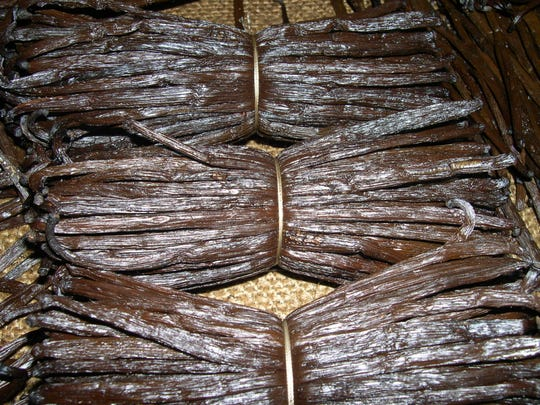 Vanilla beans used in Bontoux products.