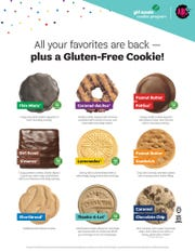 Girl Scouts of Greater Iowa sells nine types of cookies. The most popular flavors in Iowa are Thin Mints, Caramel deLites, and Peanut Butter Patties.