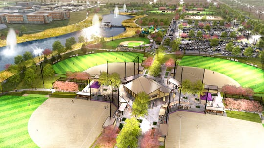 "The Waukee Betterment Foundation and City of Waukee plans a new community park and sports complex named ""Triumph Park."""