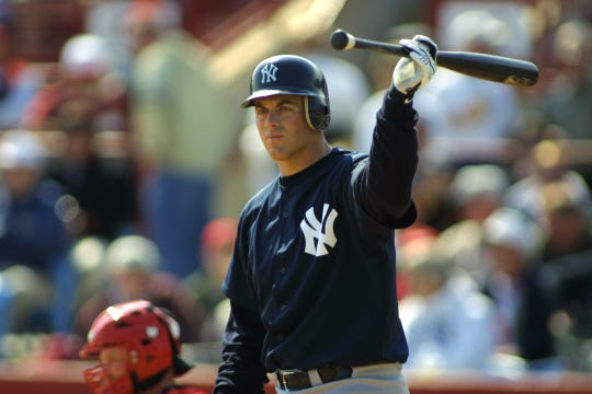 Drew Henson of the New York Yankees during a spring training game against the Cincinnati Reds in 2002.