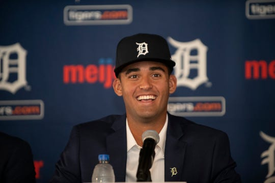 The Tigers' Riley Greene is ranked No. 9 among the game's top outfield prospects for 2020, according to MLB Pipeline.