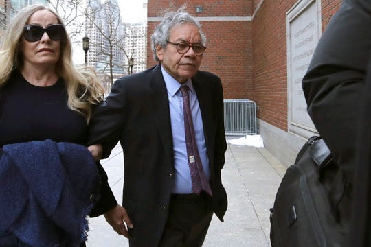 Insys Therapeutics founder John Kapoor arrives for sentencing at federal court on Thursday, Jan. 23, 2020, in Boston. Kapoor was convicted in a bribery and kickback scheme that prosecutors said helped fuel the opioid crisis.