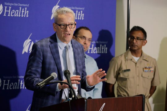 John Wiesman, Washington state Secretary of Health, speaks Wednesday about the ongoing response after a man in Washington state traveled to China and contacted the 2019 novel coronavirus.