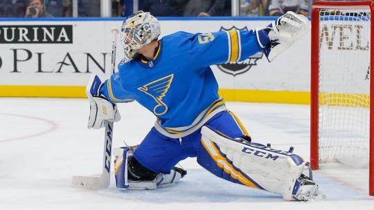 St. Louis Blues goaltender Jordan Binnington has collected 22 victories so far this season.