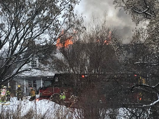 A fire destroyed Thursday afternoon in the town of Taycheedah destroyed a residence at W4062 Silica Road, owned by Rick and Barb Salm.