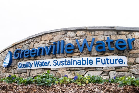 The sign outside Greenville Water is located on the corner of West Washington Street and West Broad Street Thursday, Jan. 23, 2020.
