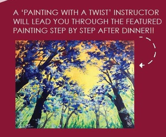 """""""For the Love of HeART"""" dinner & canvas date night will allow attendees to have a great meal and create their own work of art."""