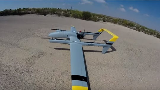 The HQ90B, a drone used for research carried out by the University of Iowa Operator Performance Lab, in a screenshot from a YouTube video posted Sept. 25, 2018.