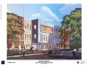The front design by Healthy Community LLC for a new Madison Academic High School