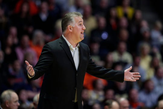 Purdue head coach Matt Painter during the first half of an NCAA college basketball game against Illinois in West Lafayette, Ind., Tuesday, Jan. 21, 2020. (AP Photo/Michael Conroy)
