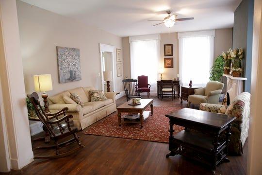 The living room inside the Historic McDonald Airbnb, Thursday, Jan. 23, 2020 in Attica.