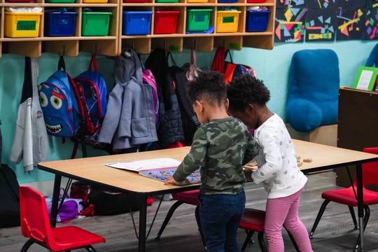 Louisiana education leaders and local policymakers, including state representatives and members of the state Board of Elementary and Secondary Education, visit Close to Home Daycare and other early childhood education sites in Lafayette Parish to observe classrooms Thursday, Jan. 23, 2020.