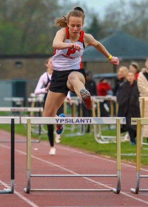 Pinckney's Kylie Ray was 13th in the state Division 1 meet in the 300-meter hurdles in 2019.