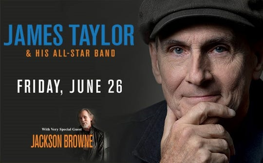 James Taylor and His All-Star Band return to Louisville with special guest Jackson Browne