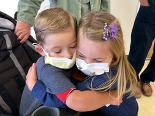 Blake Davis, pictured  with his sister Scarlett, was diagnosed with pulmonary hypertension at age one. The condition, high blood pressure in the arteries of his lungs,  is rare. Blake died in December of 2018 at age 2.