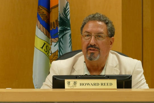 Howard Reed, Marco Island City Council member, speaks during a council meeting on Jan 21.