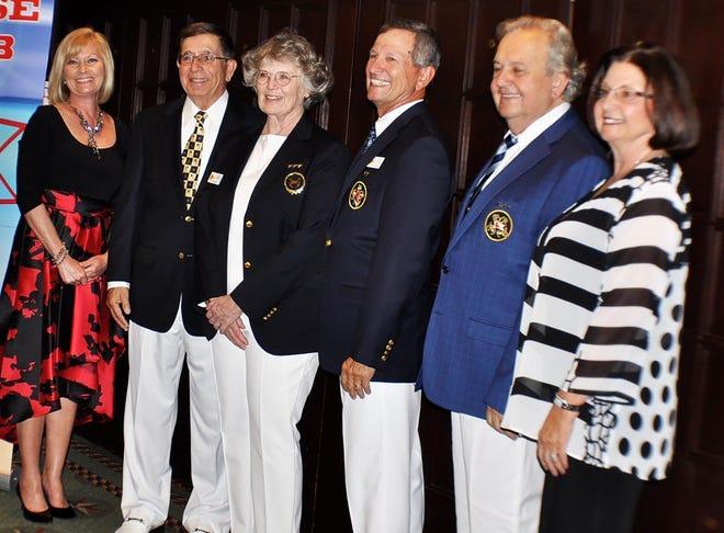 MCC's new bridge, from left, Julia Whitney, Bob Madaio, Deena Procopio, Todd Whitney, Lynn Stiles and Joyce Madaio.
