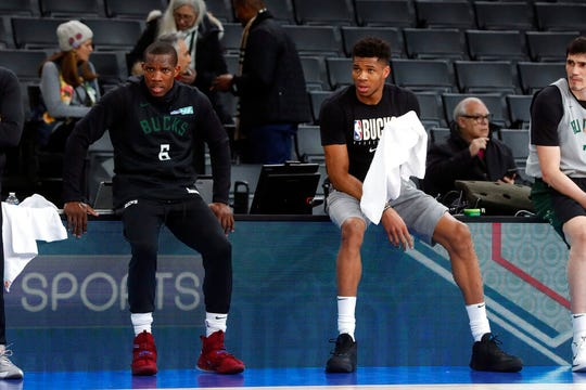 Giannis Antetokounmpo, right, said Eric Bledsoe should have been on the all-star team.