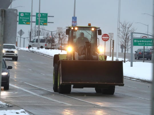 After morning snow storms cleared, motorists enjoy clear freeways after  on eastbound I-94 at Highway 100, Thursday, January 23, 2020. Snow plows are expected to be busy later Thursday and into Friday as snow is expected.