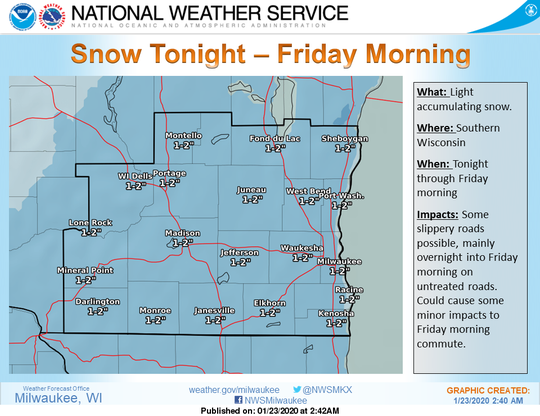 More snow is on the way Thursday night into Friday morning for southern Wisconsin as a parade of weather systems drops almost continuous light snow on the region.