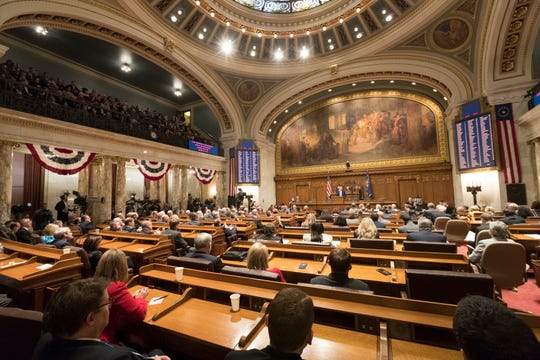 Gov. Tony Evers delivers his State of the State address on Wednesday.