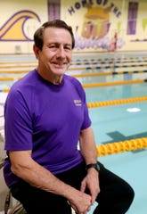 Tony Trumphour, who has been the boys and girls swimming coach at Smyrna High School for 32 years is photographed near the Smyrna pool on Thursday, Jan. 23, 2020, at Smyrna High School.