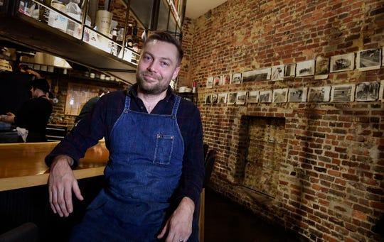Chef Josh Habiger at his restaurant Bastion.