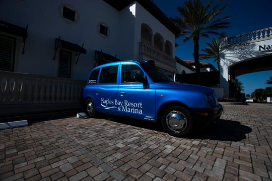 Naples Bay Resort's London cab is pictured, Thursday, Jan. 23, 2020, in Naples.