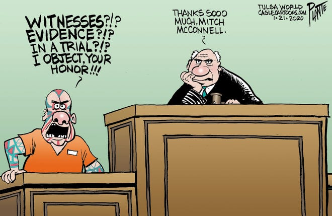 Witnesses and evidence after Senate trial.