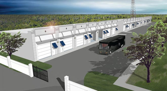 Rendering of The Hideout: Elite Motor Storage being constructed in southeast Naples.