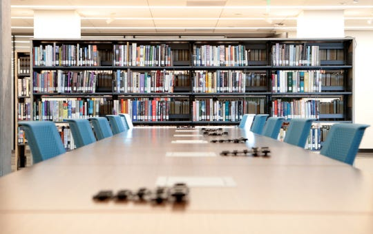 The newly renovated Hilb Library was unveiled following the College of the Desert State of the College address at the campus in Palm Desert, Calif., on Wednesday, January 22, 2020.