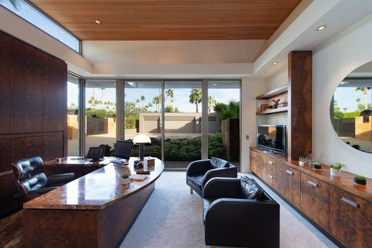 The 11,080-square-foot estate of the late Jim and Jackie Lee Houston in the Old Las Palmas neighborhood of Palm Springs is on sale for $6.495 million, listed in January 2020.