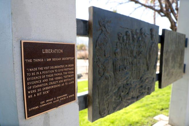 The Desert Holocaust Memorial is located in Palm Desert Civic Center Park in Palm Desert, Calif.