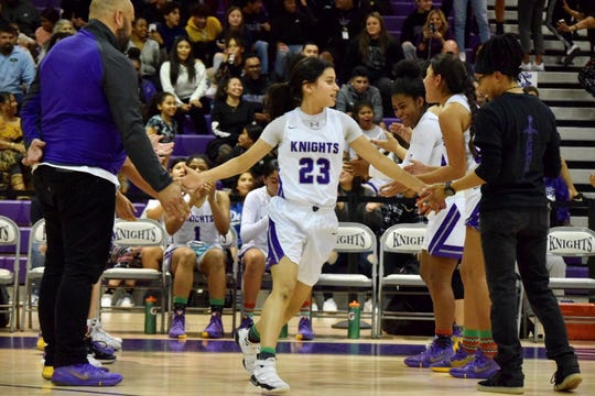Sonia Urbina of Shadow Hills High School made nine 3-pointers in a game and was voted as the Athlete of the Week.