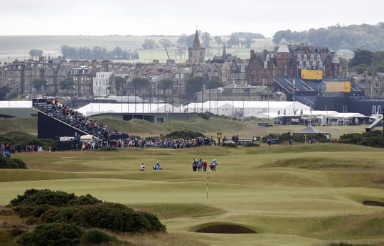 A general view looking down the 5th fairway during practice on The Old Course at St Andrews in Scotland, on July 15, 2015, ahead of The 2015 Open Golf Championship.