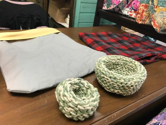 Melissa Langford, a quilter and crafter who owns The Sunflower Shoppe in Mercersburg, reached out to her fellow crafters to make necessary items for the animals affected by bushfires to recover. Langford has made pouches for joeys and koalas and her friend crocheted birds nests.