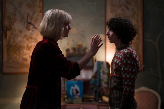 """TMackenzie Davis, left, and Finn Wolfhard star """"The Turning."""" The movie is playing at Regal West Manchester, Queensgate Movies 13 and R/C Hanover Movies."""