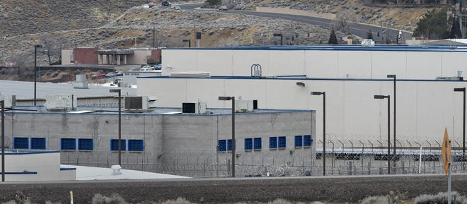 A panel of Nevada lawmakers are studying rules for pretrial release of criminal defendants from local jails. Shown in Washoe County Jail on Parr Boulevard.